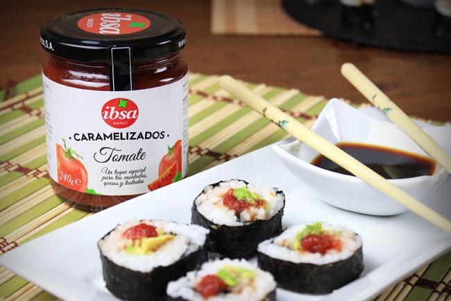 Rollitos de sushi vegano