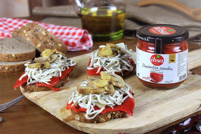 tosta con pimientos IBSA